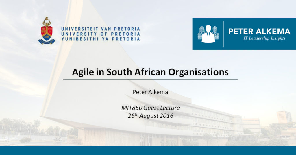 Agile in SA Organisations